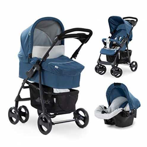 nachhaltig Hauck Shopper SLX Trio Set 3 in 1 Kinderwagen bis 25 kg + Babyschale + Babywanne mit Matratze ab Geburt, Buggy mit Li... ökologisch