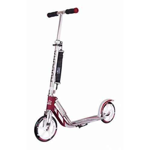 nachhaltig HUDORA 14764/01 BigWheel 205-Das Original mit RX Pro Technologie-Tret-Roller klappbar-City-Scooter, Magenta/Silber ökologisch