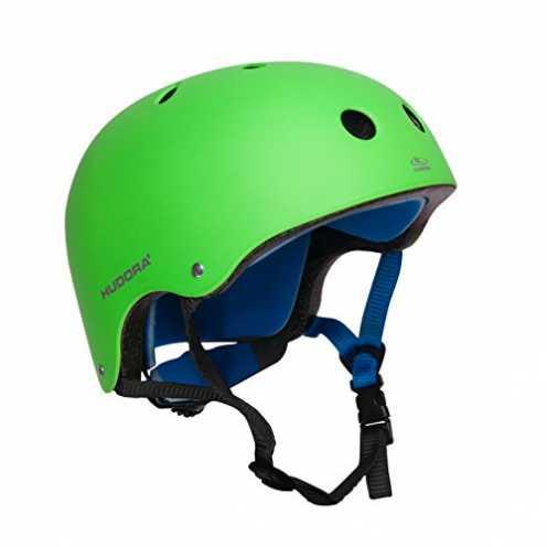 nachhaltig HUDORA 84108 - Skateboard-Helm, Scooter-Helm grün, Gr. 51-55, Skate Helm, Fahrrad-Helm ökologisch