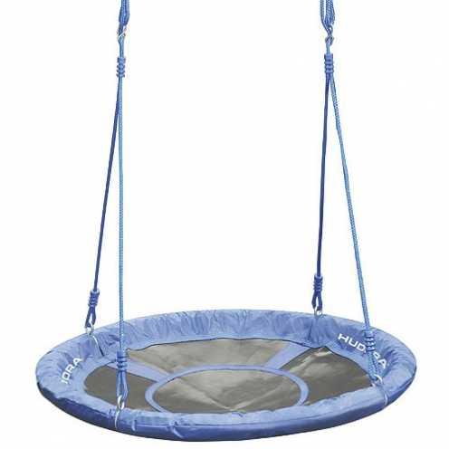 nachhaltig HUDORA Nestschaukel 90 cm, blau - Garten-Schaukel bis 100 kg belastbar - 72126 ökologisch