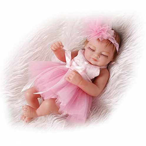 """nachhaltig iCradle Reborn Baby Doll Realistische Tiny 10"""" Full Body Lebensechtes Kleinkind Frühchen Silikon Neugeborene Puppen f... ökologisch"""