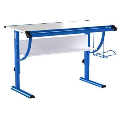 nachhaltig IDIMEX Kinderschreibtisch Schülerschreibtisch Blue in weiß blau Schreibtisch höhenverst... ökologisch