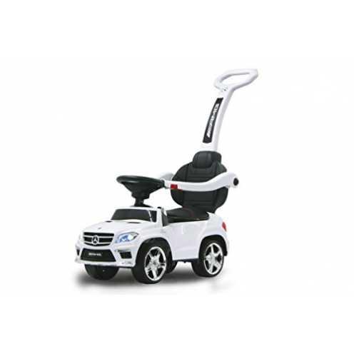 nachhaltig Jamara 460244 - Rutscher Mercedes GL63AMG weiß 2in1 - Kippschutz, Kunstledersitz, Kofferraum, Schub- und Haltestange ... ökologisch
