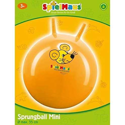 nachhaltig Spielmaus Outdoor Baby-Sprungball, ca.35 cm rot blau gelb sortiert ökologisch