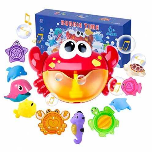 nachhaltig Joyjoz Badespielzeug Crab Bubble Badewannenspielzeug Kinder Stapelbecher Bubble Machine... ökologisch