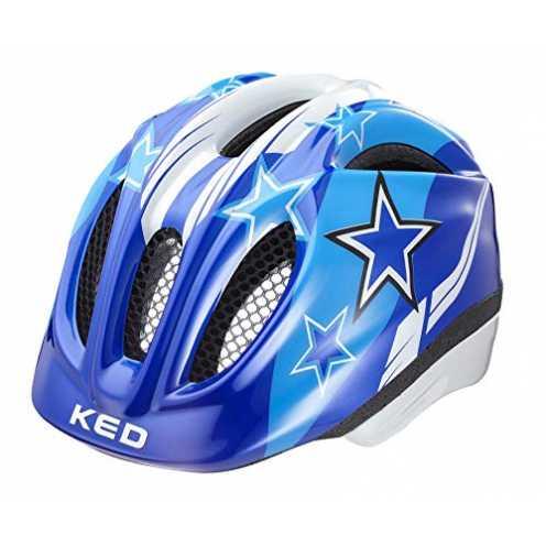 nachhaltig KED Meggy Helmet Kids 2019 Fahrradhelm, blue stars, S/M | 49-55cm ökologisch