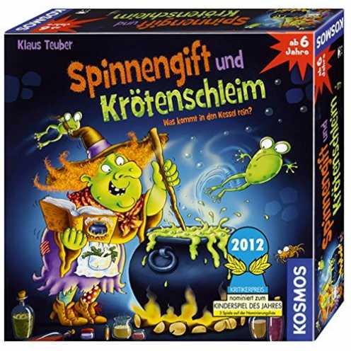 nachhaltig KOSMOS 698652 - Spinnengift und Krötenschleim: Was kommt in den Kessel rein? lustiges Merkspiel für 2 - 4 Spieler, Ki... ökologisch
