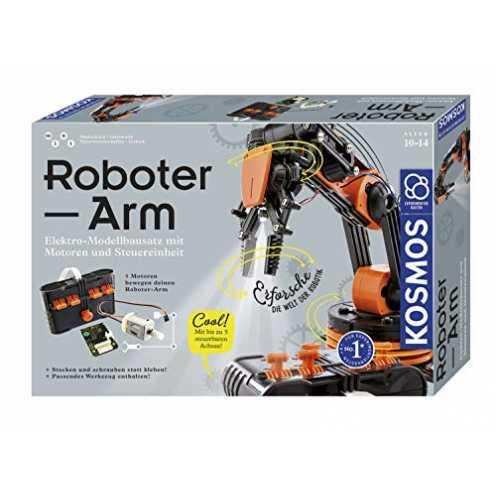nachhaltig KOSMOS Roboter-Arm, Modellbausatz für deinen elektrischen Roboterarm, mit 5 Motoren und... ökologisch