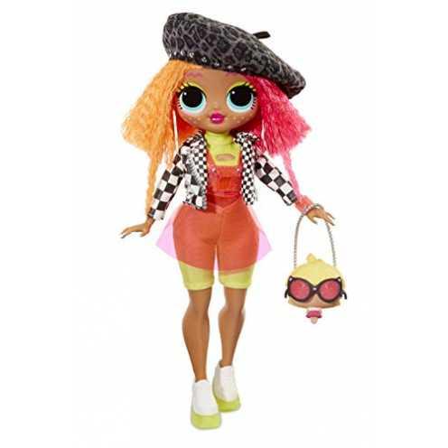 nachhaltig L.O.L. Surprise! 560579E7C O.M.G. Fashion Doll Neonlicious Q.T., Ankleide- und Sammelpuppe mit Haaren und 20 Überrasc... ökologisch