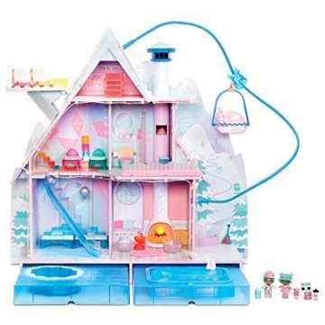 L.O.L. Surprise! 562207E7C Chalet Winter Disco - Großes Puppenhaus mit Licht- und Soundeffekten und exklusiver Puppen...