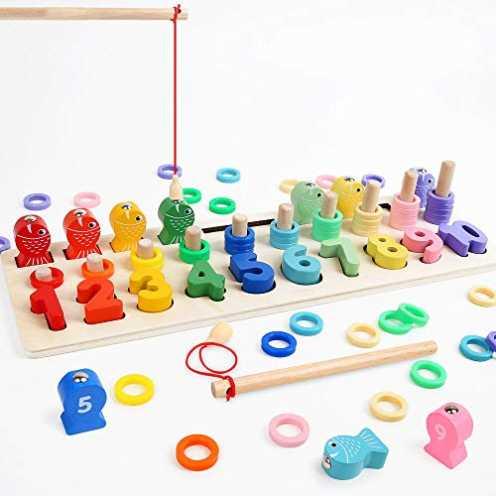 nachhaltig LBLA Multifunktionale Montessori Lernspielzeug, Kleinkind Angeln Spiel Spielzeug, Kinde... ökologisch