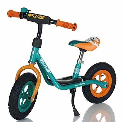 nachhaltig LCP Kids Laufrad Roller für Kinder ab 2 Jahren Luftreifen Ständer, Grün ökologisch