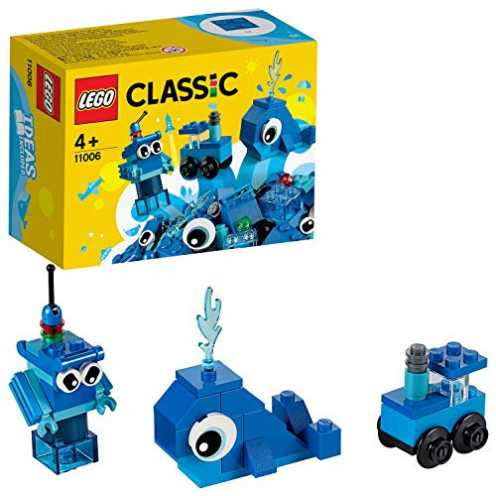 nachhaltig LEGO 11006 Classic Blaues Kreativ-Set Lernstarter-Set, Spielzeug für Vorschulkinder ab 4 Jahren ökologisch
