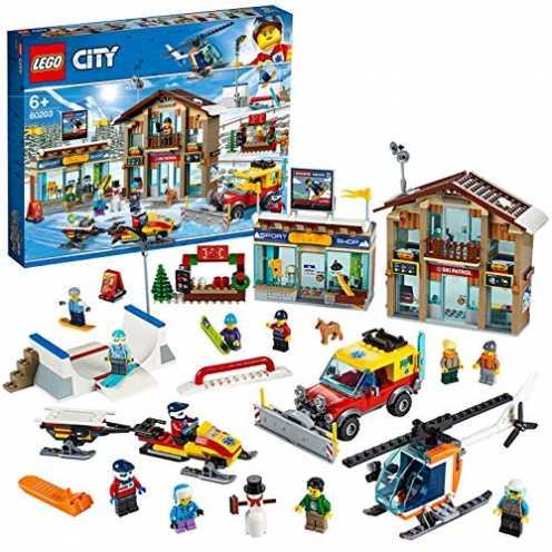 nachhaltig LEGO 60203 City Ski Resort, Bauset, Schnee-Spielzeug für Kinder, bunt ökologisch