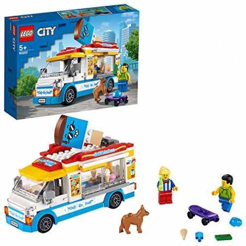 nachhaltig LEGO 60253 Eiswagen City Spielzeug mit Skater- und Hundefigur, für Kinder ab 5 Jahren ökologisch
