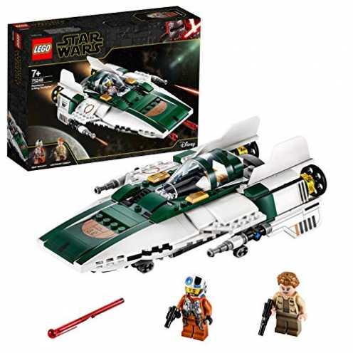 nachhaltig LEGO 75248 Star Wars Widerstands A-Wing Starfighter, Bauset, Mehrfarbig ökologisch