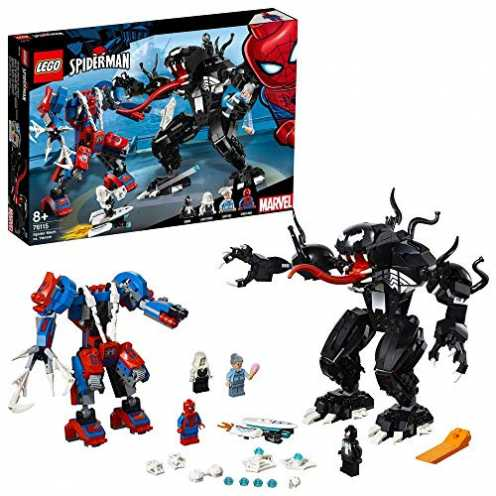 nachhaltig LEGO 76115  Marvel Super Heroes Spider Mech vs. Venom ökologisch