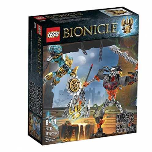 nachhaltig LEGO Bionicle 70795 Mask Maker vs. Skull Grinder Building Kit (Discontinued by manufacturer) ökologisch