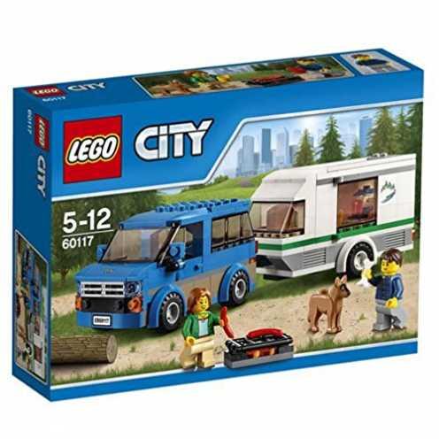 nachhaltig LEGO City 60117 - Van und Wohnwagen, Bausteinspielzeug ökologisch