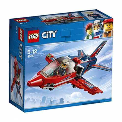 nachhaltig LEGO City 60177 - Starke Fahrzeuge Düsenflieger, Konstruktionsspielzeug ökologisch
