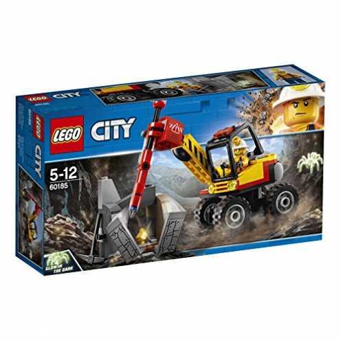 nachhaltig LEGO City 60185 - Bergbauprofis Power-Spalter, Konstruktionsspielzeug ökologisch
