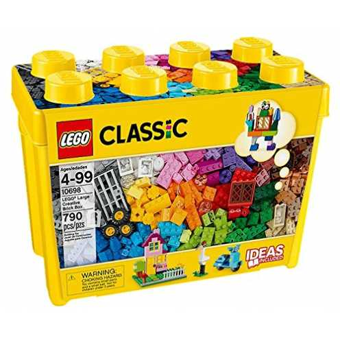 e of LEGO Bricks in 33 different colours; Features a wide range of Bricks, Windows, Doors, Frames, Eyes, tyres and Wheel rims, plus two different Sized Base Plates; designed to Ins