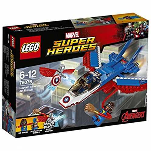 nachhaltig LEGO Marvel Super Heroes 76076 - Captain America: Düsenjet, Superhelden-Spielzeug ökologisch
