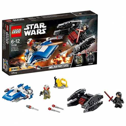 nachhaltig LEGO Star Wars 75196 - A-Wing vs. TIE Silencer Microfighters, Spielzeug ökologisch
