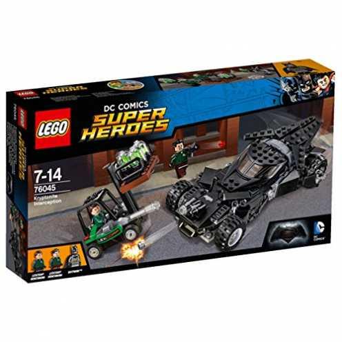 nachhaltig LEGO Super Heroes 76045 - Kryptonit-Mission im Batmobil, Superhelden-Spielzeug ökologisch