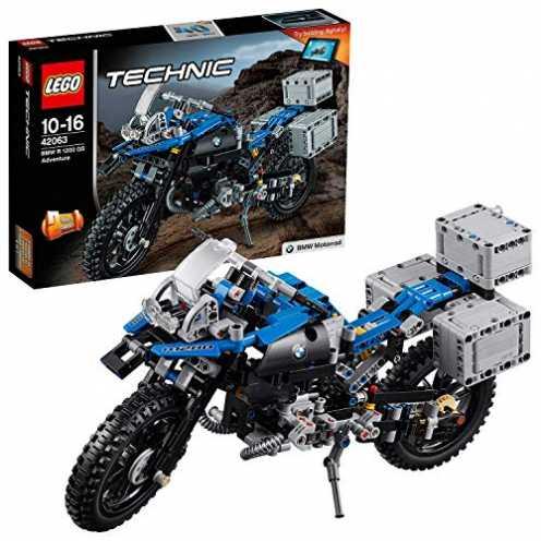 nachhaltig LEGO Technic 42063 - BMW R 1200 GS Adventure, Fortgeschrittenes Bauspielzeug ökologisch