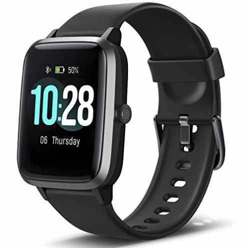 nachhaltig Letsfit Smartwatch, Fitness Tracker Voll Touchscreen Fitness Armbanduhr mit Pulsmesser ... ökologisch