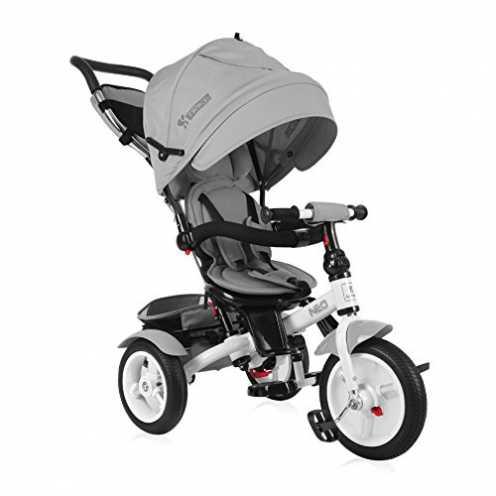 nachhaltig Lorelli Neo Dreirad Baby/Kinder mit ROUES GONFLABLES grau ökologisch