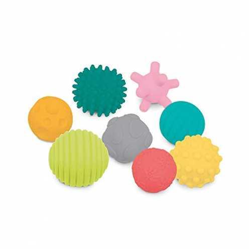 nachhaltig LUDI Set mit 8 Bällen für frühe Entwicklung Gemischte sensorische Bälle | Verschiedene ... ökologisch