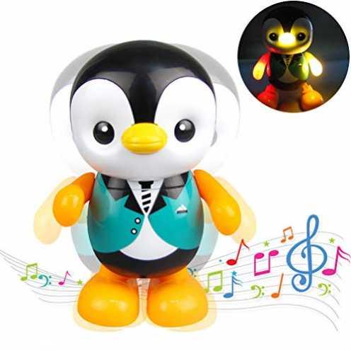 nachhaltig Macabolo Singen tanzen swingen Cartoon kleine Pinguin Figuren Spielzeug elektrische LED... ökologisch