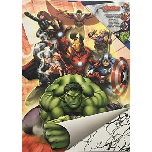 """nachhaltig Malblock & Sticker Din A 4 mit Marvel """"Avengers"""" - Malbuch mit Aufkleber ökologisch"""
