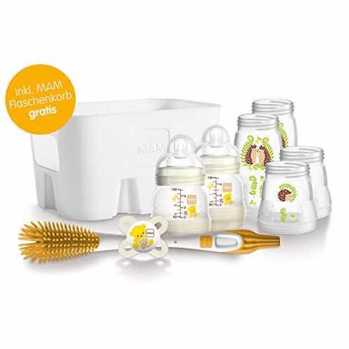 nachhaltig MAM Easy Start Babyflaschen Set für Neugeborene, Baby Erstausstattung mit Schnuller, Bü... ökologisch