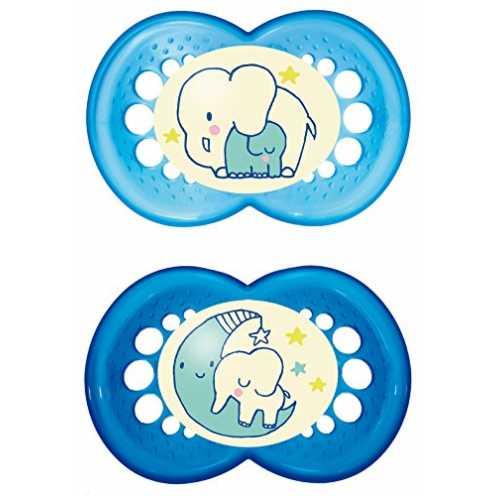 nachhaltig MAM Night Schnuller im Doppelpack, leuchtender Baby Schnuller, besonders weicher Baby S... ökologisch