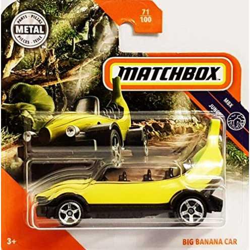 nachhaltig Matchbox* Big Banana Car - 1:64 - gelb/schwarz (Funny Car) ökologisch