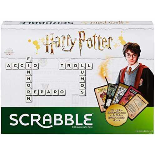 nachhaltig Mattel Games GMG29 - Scrabble Harry Potter Wörterspiel in deutscher Sprachversion, Familienspiele ab 10 Jahren ökologisch