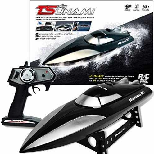 nachhaltig Maximum RC - Ferngesteuertes Boot Tsunami inklusive Ladegerät und Akku - Farbe schwarz ... ökologisch