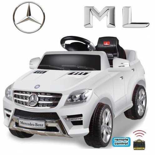 nachhaltig Original Mercedes-Benz ML 4x4 4MATIC 350 SUV Lizenz Kinderauto Kinderfahrzeug (WEISS) ökologisch