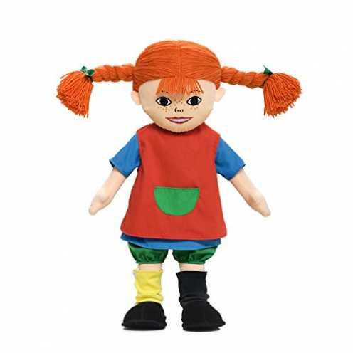 nachhaltig Micki & Friends 44371600 - Pippi Langstrumpf Puppe 20 cm - Stoffpuppe - Teddy - Plüschpuppe - abnehmbare Kleidung - a... ökologisch