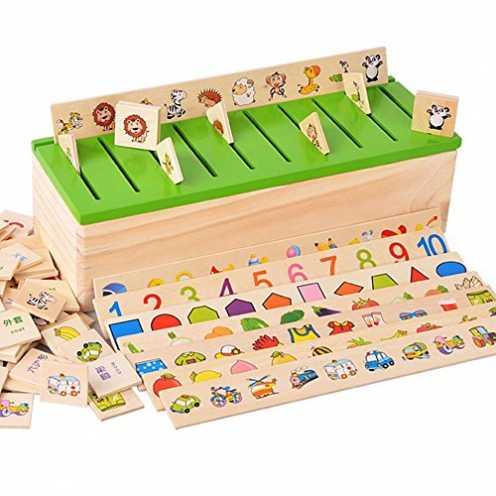 nachhaltig Montessori Lernspielzeug aus Holz, für Kinder zum frühen Lernen ökologisch