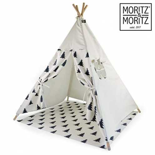 nachhaltig Moritz & Moritz Tipi Zelt für Kinder - Baum Muster - Kinderzelt Spielzelt Geschenkidee ... ökologisch