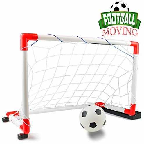 nachhaltig Nuheby Fussballtor Fußballtor Kinder Garten Mobile Mit Musik, Indoor Outdoor Fussball T... ökologisch