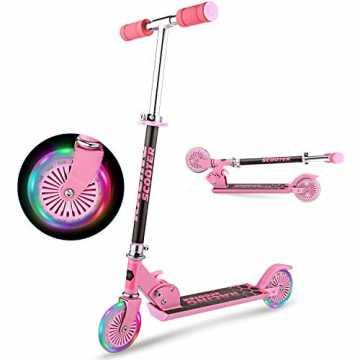 OUTCAMER Kinder Roller Faltbarer Tretroller für Kinder ab 3-10 Jahre, Kinder Scooter mit Verstellbarer Lenkstange und...