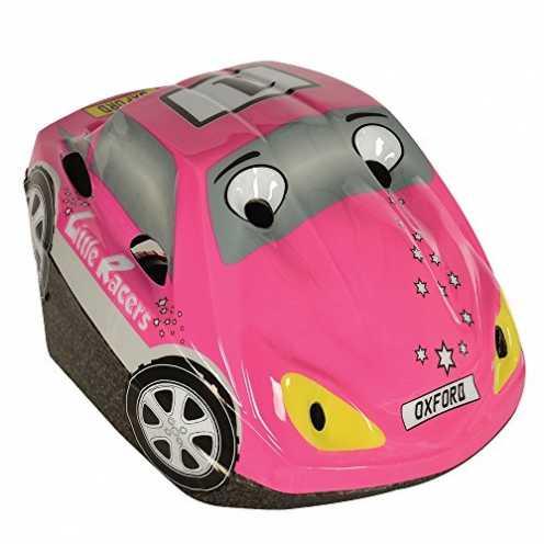 nachhaltig Oxford Racer Kinder Fahrrad Helm, Pink Car, Universal Toddler (48cm - 52cm) ökologisch