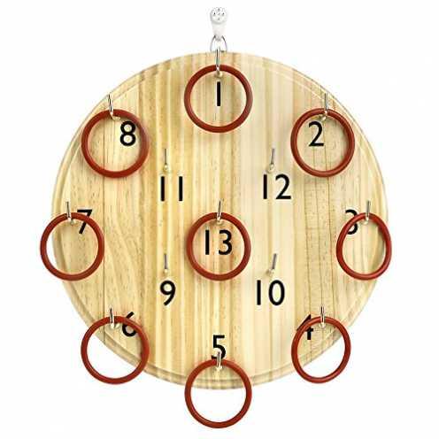 nachhaltig Pellor Kinder Erwachsene Holz Ringwurfspiel Wand Kreis Werfen Spielzeug Indoor-und Outd... ökologisch