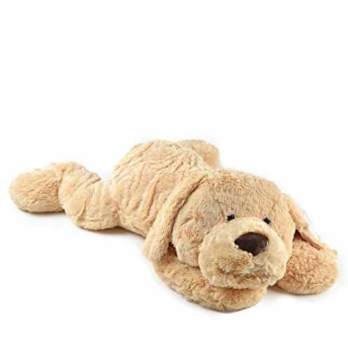 nachhaltig Pink Papaya Riesen Kuschel-Hund Lucy, 100cm XXL Plüsch-Hund in Hellbraun, Stoff-Hund, Teddybär zum Liebhaben Toys ökologisch