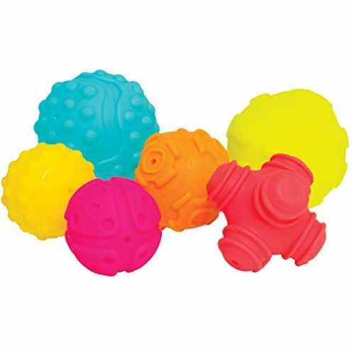 nachhaltig Playgro Sensorik-Bälle, Ab 6 Monaten, Mehrfarbig, 40195 ökologisch